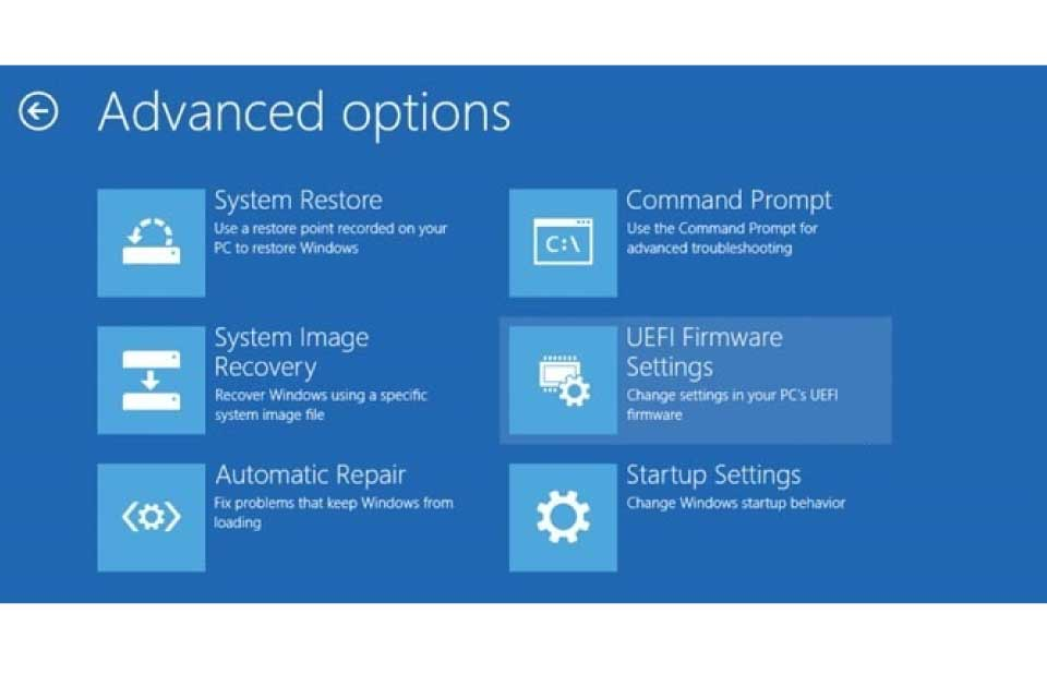 Windows 10 BIOS Açma UEFI