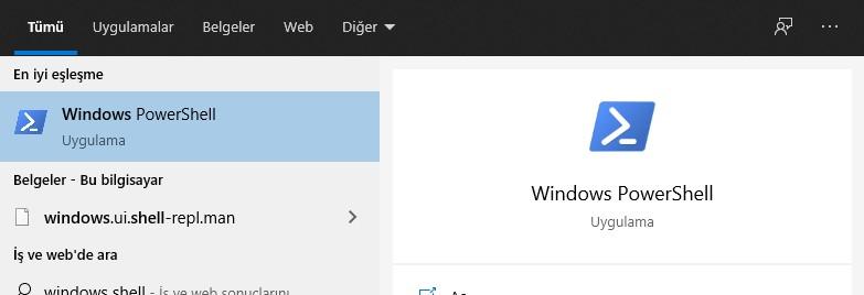 Gorev Çubuğu Çalışmıyor Windows PowerShell