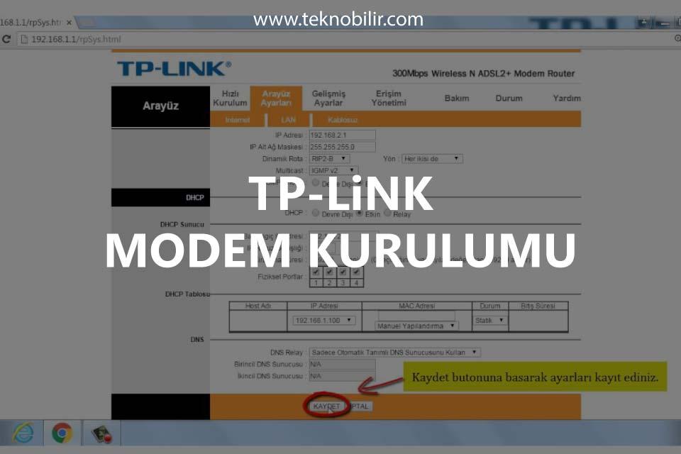 TP-Link Modem Kurulumu